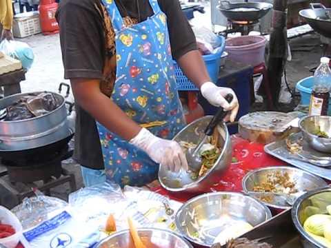 Zubereitung von Schalenurtieren in Hua Hin Thailand