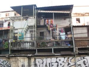Bangkok leben zwischen gleisen