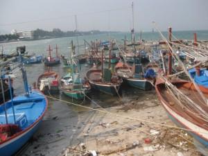 Hua-Hin-Fischerboote
